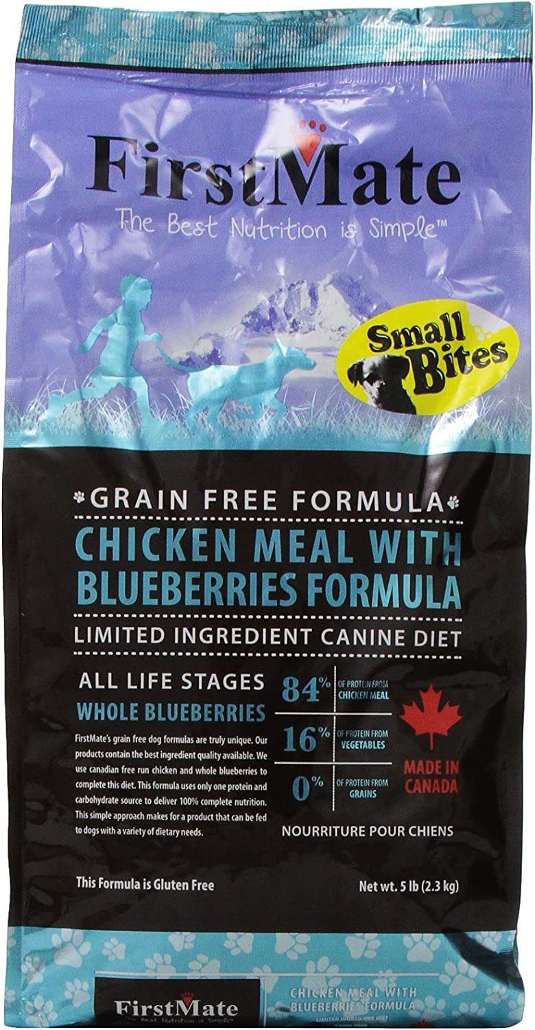 Firstmate Pet Foods Chicken With Blueberries Small Bites, 5 Pounds, Grain-Free Dry Dog Food