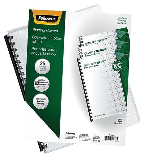 Fellowes 5224401 Polipropileno (PP) Transparente 25pieza(s) - Cubierta (Polipropileno (