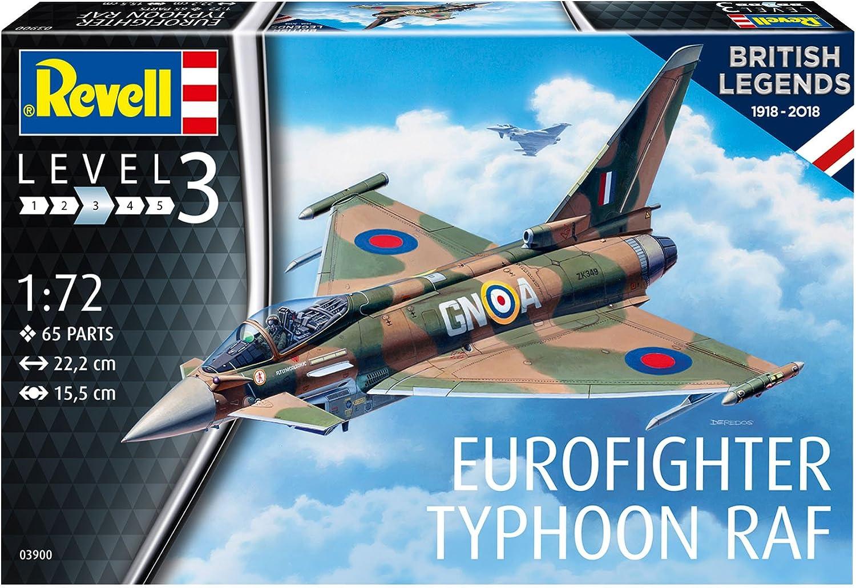 Revell Revell-03900 Scale British Legends: Eurofighter Typhoon RAF Royal Air Force, Kit de Modelo, Escala 1: 72, Multicolor (03900, 3900): Amazon.es: Juguetes y juegos
