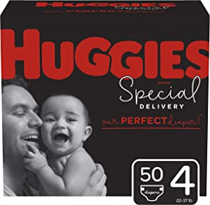 Huggies Special Delivery Hypoallergenic Baby Diapers, Size 4, 50 Ct