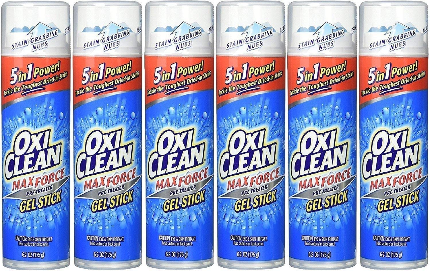 OxiClean Max Force Gel Stick, 6.2 Oz (6 Pack)
