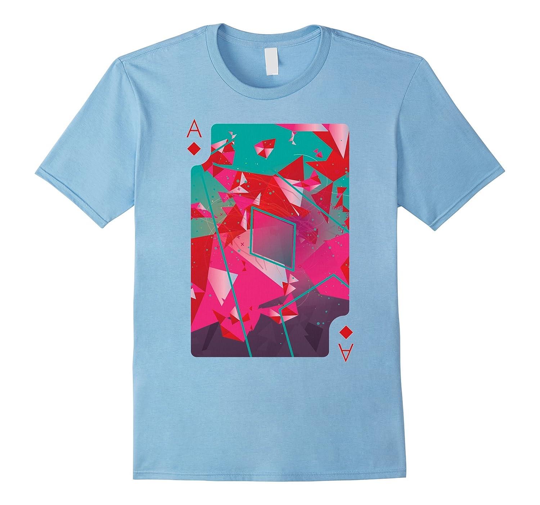Ace Of Diamonds Playing Card Poker Costume Card Tee Shirt-CL