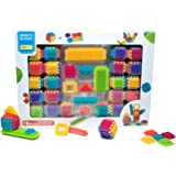 Seek'o Blocks - Jeu de Construction 1er âge - Seek'o Blocks Multicolore - Combo Cubes et Blocks 140 Pièces - BA4005