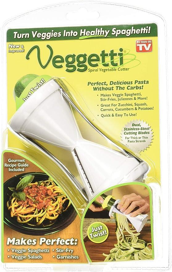 Amazon Com Veggetti Spiral Vegetable Cutter 1000203 Veggetti Spiral Vegetable Cutter Kitchen Dining