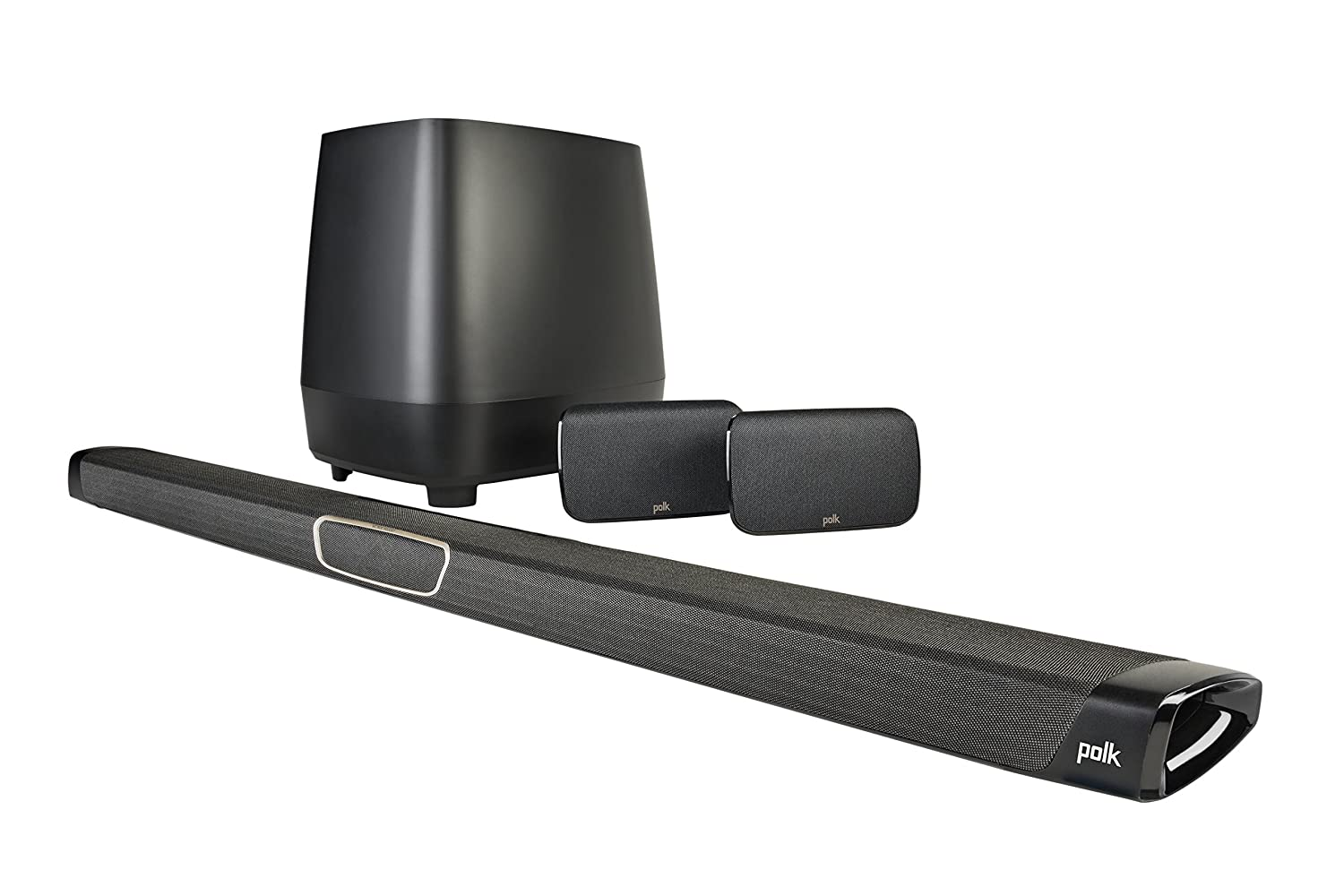 Polk Audio MagniFi Max SR Home Theater Surround Sound Bar -Maximum Performance Home Theater System, Wireless Subwoofer and Two Speakers Included