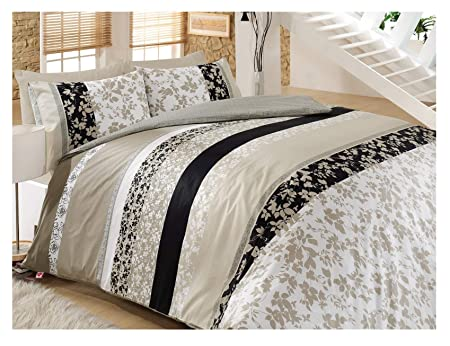 Cotton Box Copripiumino.Deborah 100 Cotton Duvet Cover Bedding Set In Luxury Box Double