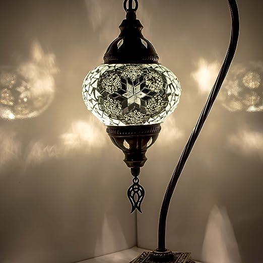 Lámpara de mesa/escritorio hecha a mano con mosaico, impresionante ...