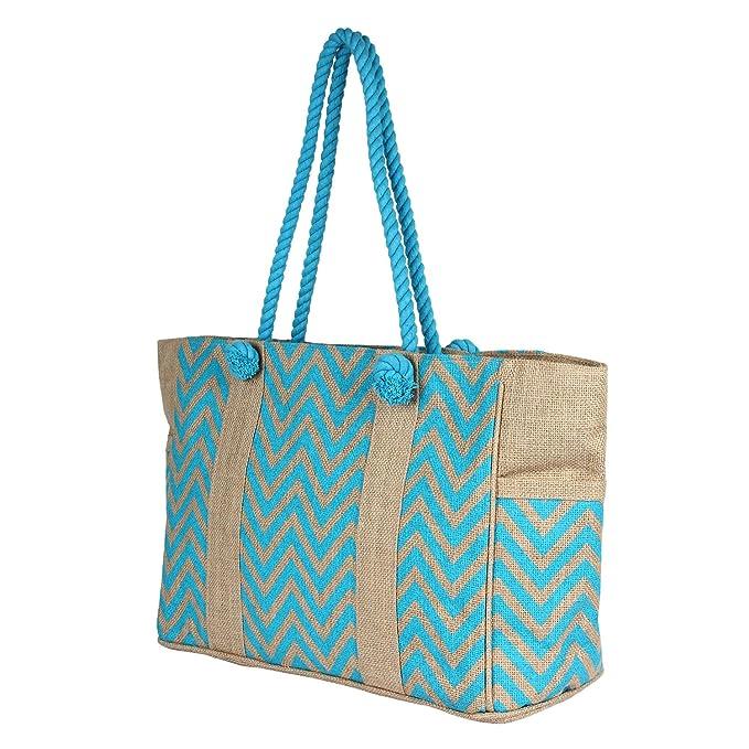 Amazon.com | Rustic Town Women Jute Bags Burlap Beach Bags Tote ...