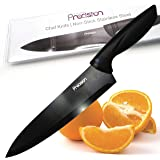 Kitchen Precision Chef Knife 8 Inch - Pro Kitchen Knife 20cm Chef's Knives, Non Stick Stainless Steel Knife with Ergonomic Handle - Razor Sharp - Best Choice for Home Chef Kitchen Knives - KPCK1BL