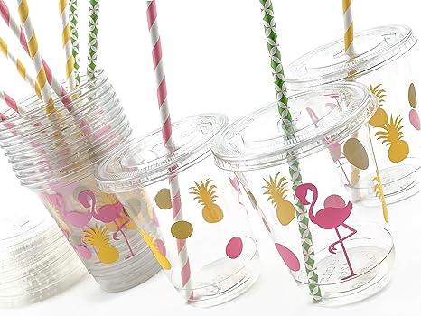 Amazon.com: Juego de 12 vasos desechables de piña de ...