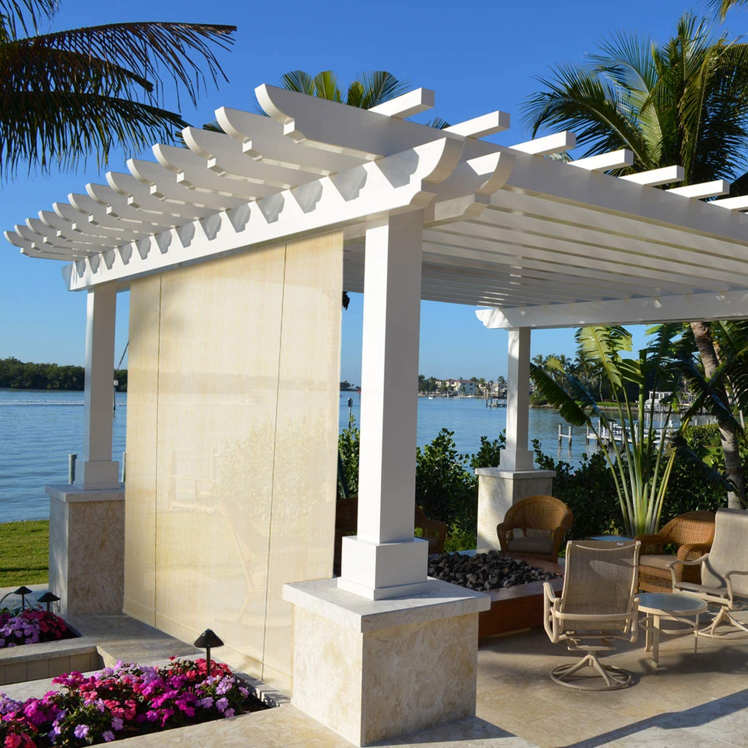 TANG Sunshades Depot Exterior Roller Shade Roll up Shade for Patio Deck Porch Pergola Balcony Backyard Patio