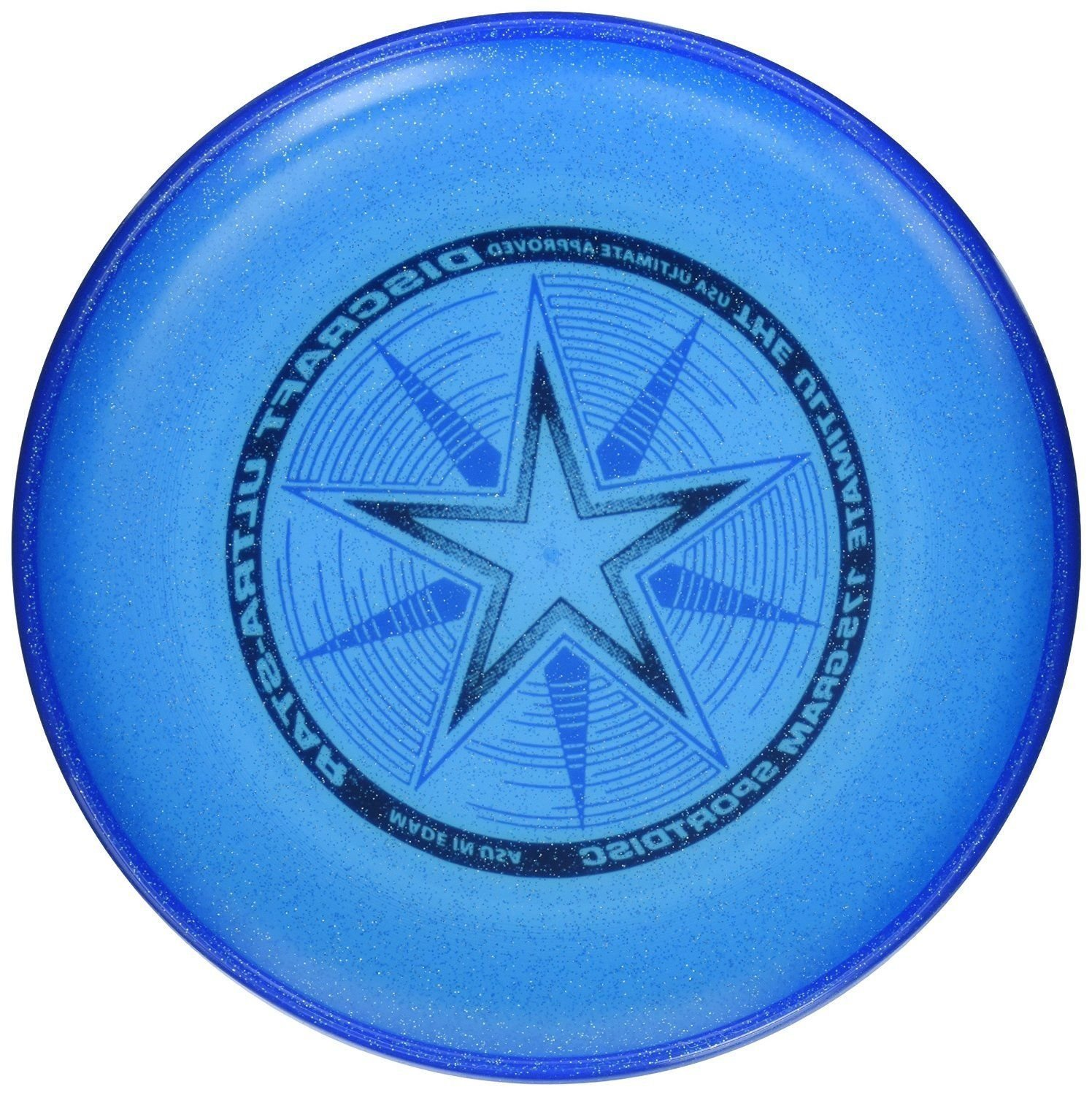 Discraft 175 gram Ultra Star Sport Disc, Blue Sparkle