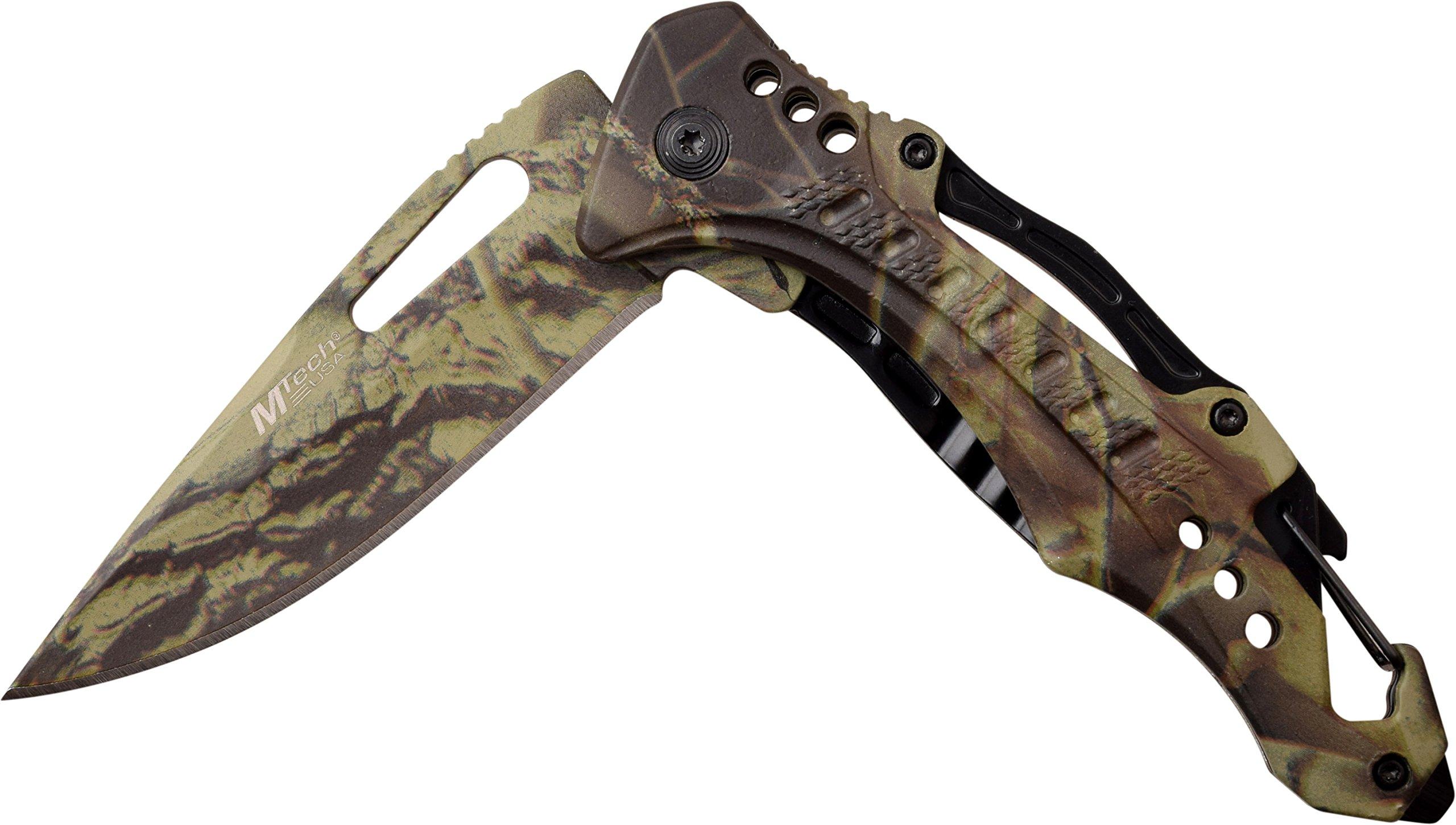 MTECH USA Ballistic MT A705G2 CA Spring Assist Folding Knife, Camo