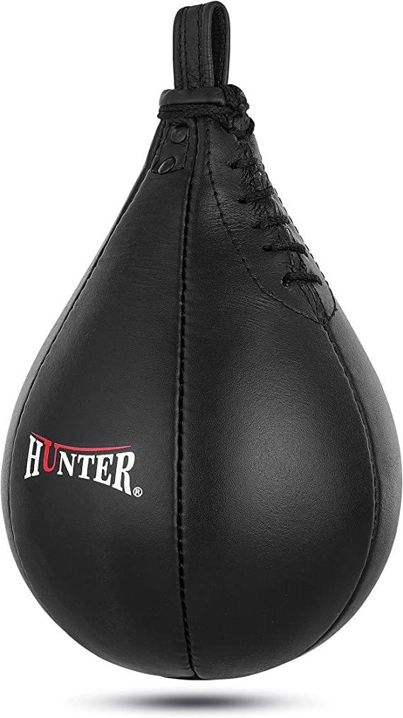 ADii Genuine Leather Boxing Speed Bag Swivel MMA Punching Training Speed ball
