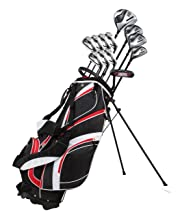 18 Piece Men's Complete Golf Club Package Set With Titanium Driver,