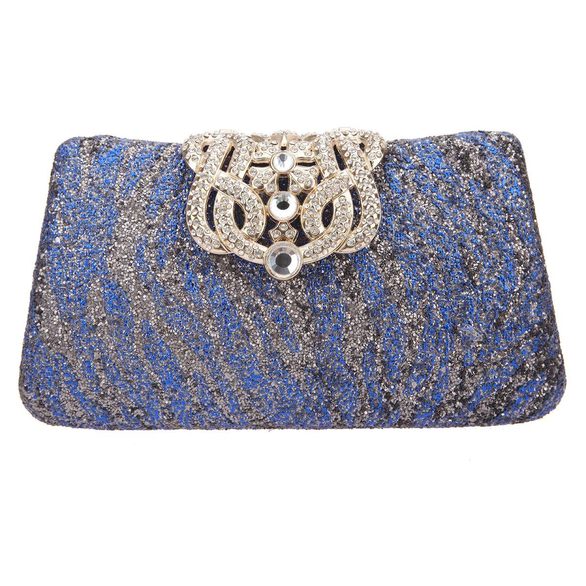 Amazon.com: fawziya Zebra Pattern Glitter embrague Monederos ...
