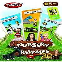 Pebbles Nursery Rhymes - 3D - 1, 2 & 3 (DVD)
