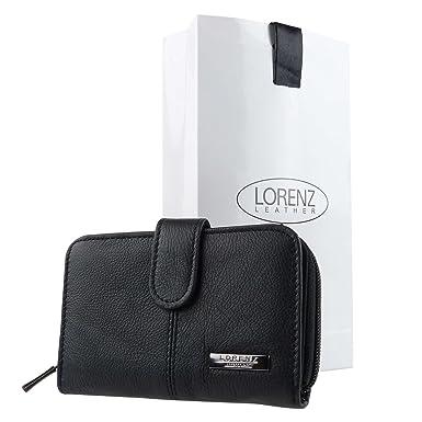 Amazon.com: Lorenz piel de vacuno cartera/cartera de mujer ...