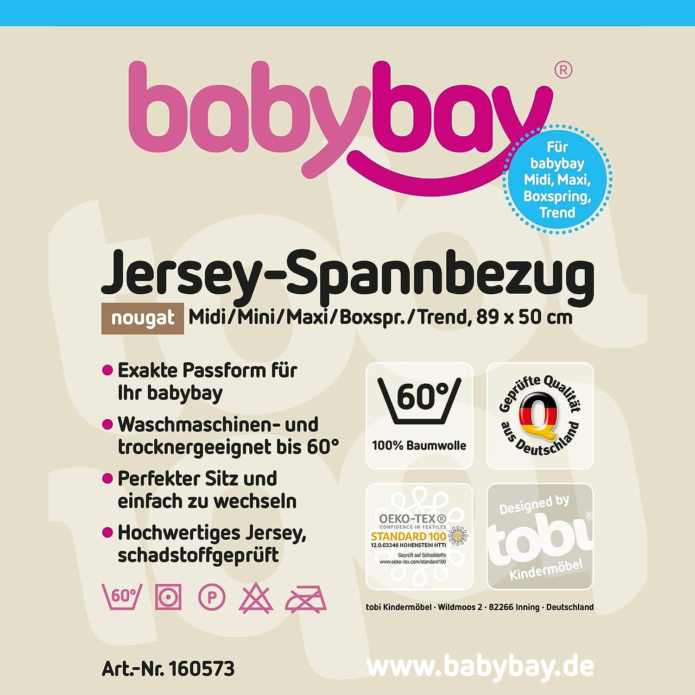 Mini Boxspring e Trend Midi Babybay Jersey lenzuolo con angoli elasticizzati in confezione doppia per Maxi