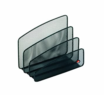 Alba - Organizador para cartas (malla metálica), color negro