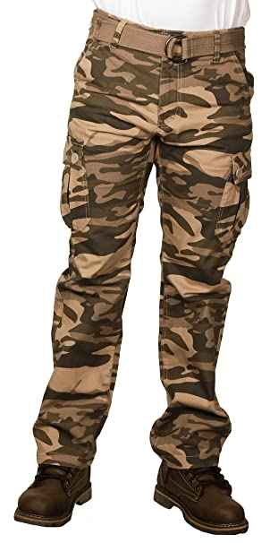 great deals 2017 huge sale many styles Royal Blue Men's Premium Twill Camouflage Cargo Pants
