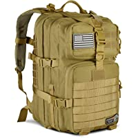 LeisonTac Tactical Backpack Military ISO Standard for Hunting Hiking Travel & Camping | Heavy Duty Nylon Stitching Water Resistant Small Rucksack with Hydration Bladder Compartment