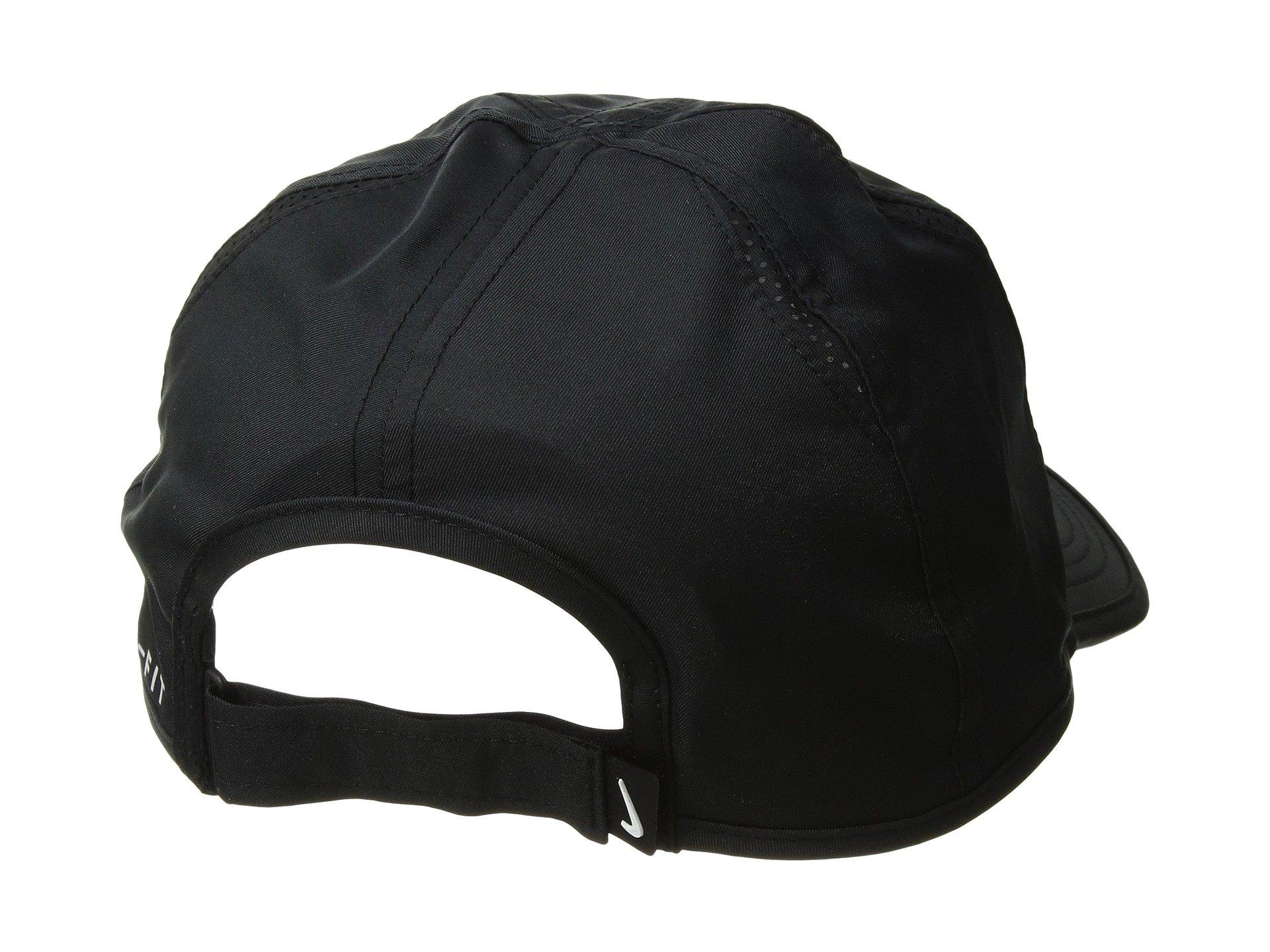 Nike Unisex Court AeroBill Featherlight Tennis Adjustable Cap Black/Black/Orange Peel (ONE Size) by NIKE (Image #3)