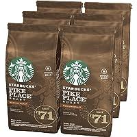 STARBUCKS PIKE PLACE Café de grano entero de tostado medio, 6 x bolsa de 200g