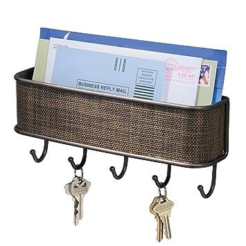 Amazon Interdesign 95870 Twillo Mail Letter Holder Key Rack
