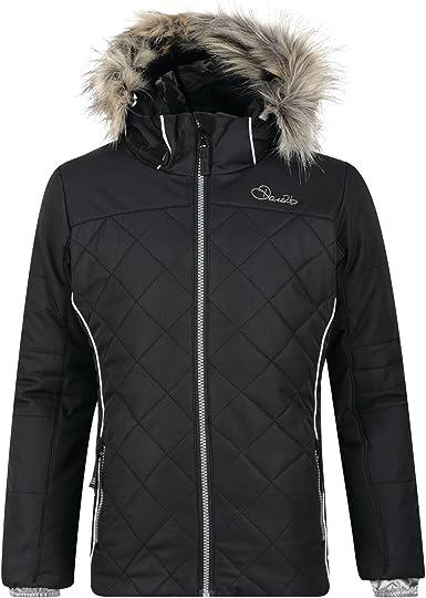 Dare2B Obscure Junior Waterproof Jacket Black Outdoor Ski Winter Coat Girls Boys
