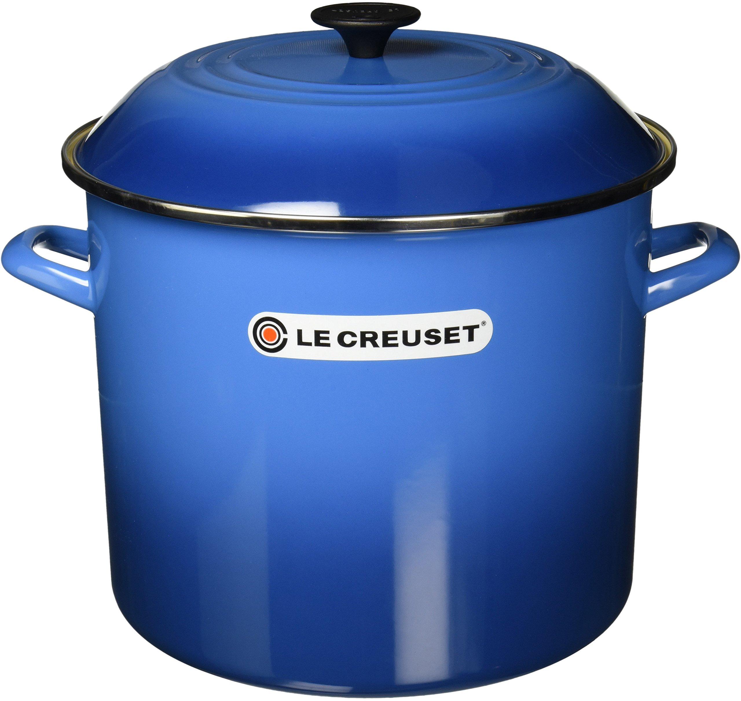 Le Creuset Enameled Steel 16-Quart Stock Pot with Lid, Marseille