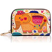APHISON RFID Blocking Coin Pouch Purse Credit Card Case Holder Wallet With Zipper (003)