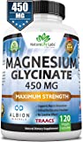Magnesium Glycinate 450 MG Albion Minerals TRAACS Maximum Bioavailability Chelate No Laxative Effect Vegan Helps…