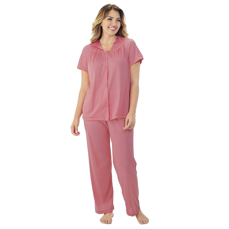 dbc5e65478 Vanity Fair Women s Plus Size Coloratura Sleepwear Short Sleeve Pajama Set  90807  Amazon.ca  Clothing   Accessories