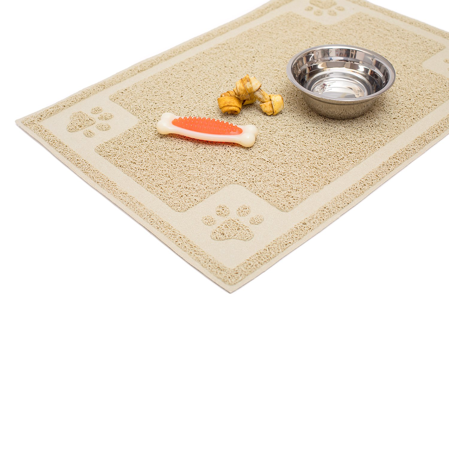 Cavalier Pets Dog Bowl Mat for Cat and Dog Bowls Silicone Non-Slip Absorbent ...