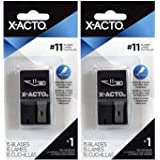 2-Pack - X-ACTO X411 Knife Blades with Dispenser Size 11 Blades, 15 Pieces each