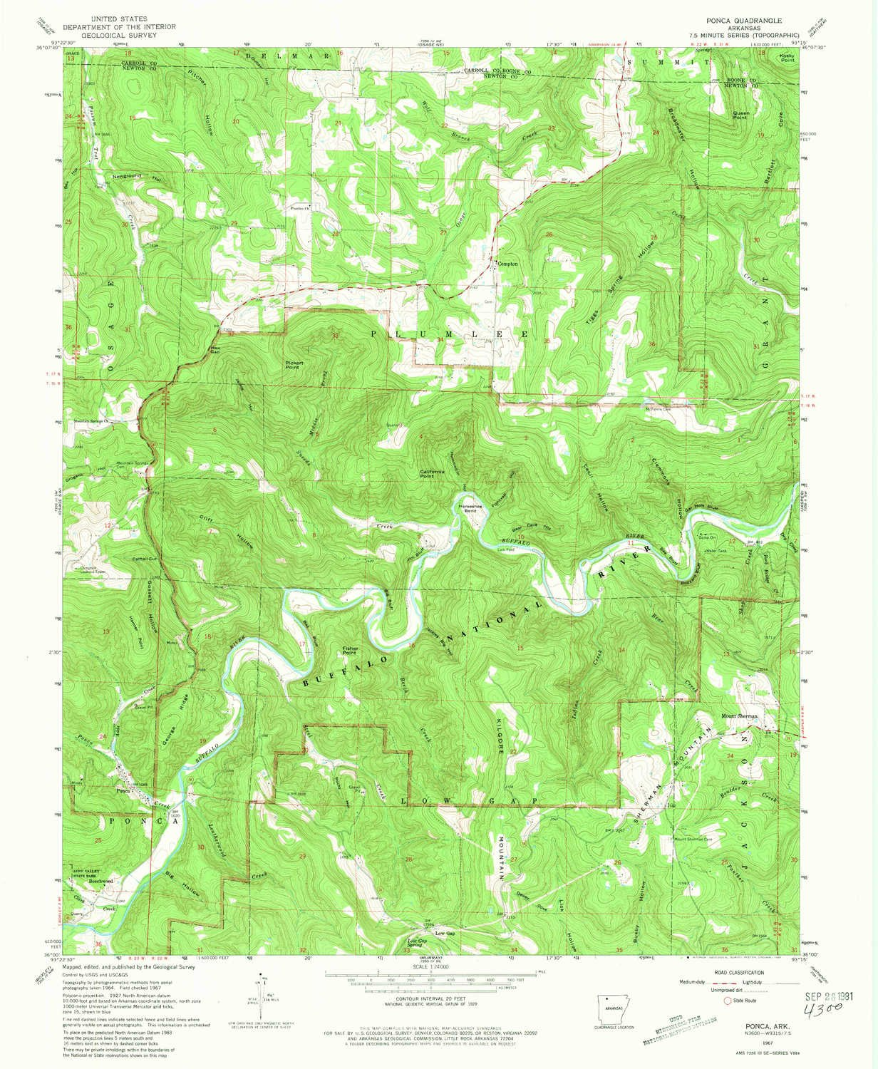Ponca Arkansas Map.Amazon Com Yellowmaps Ponca Ar Topo Map 1 24000 Scale 7 5 X 7 5