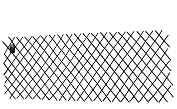 Master Garden Products Willow Expandable Trellis Fence, 36 By 72 Inch