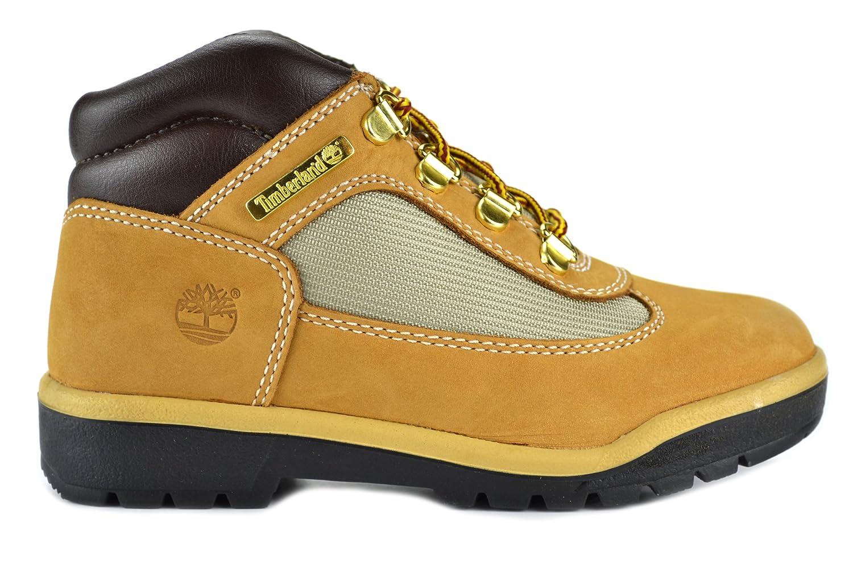 Amazon.com | Timberland Field Boot Preschool Kids Wheat Nubuck Leather Boots  | Boots