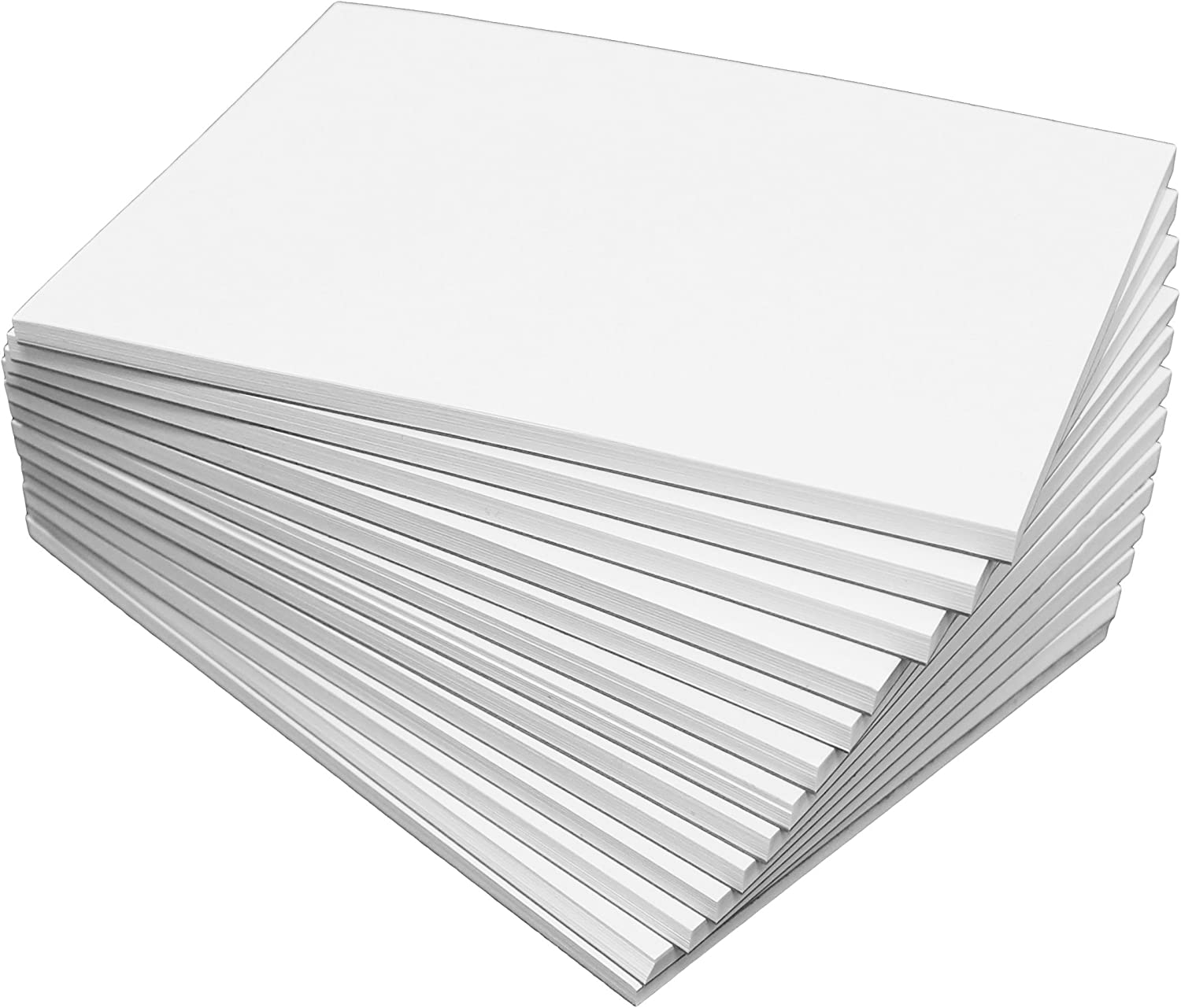 """DEBRADALE DESIGNS Blank Unruled Memo Pads - 5"""" x 7"""" Inches - Baker's Dozen (13) - Note Pads with 50 Sheets each of Bright White 20# Bond Paper - Quality Chipboard Backer - Lifetime Gluing Guarantee"""