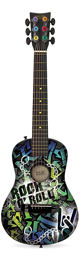 amazon com first act fg3718 designer acoustic guitar rock n roll