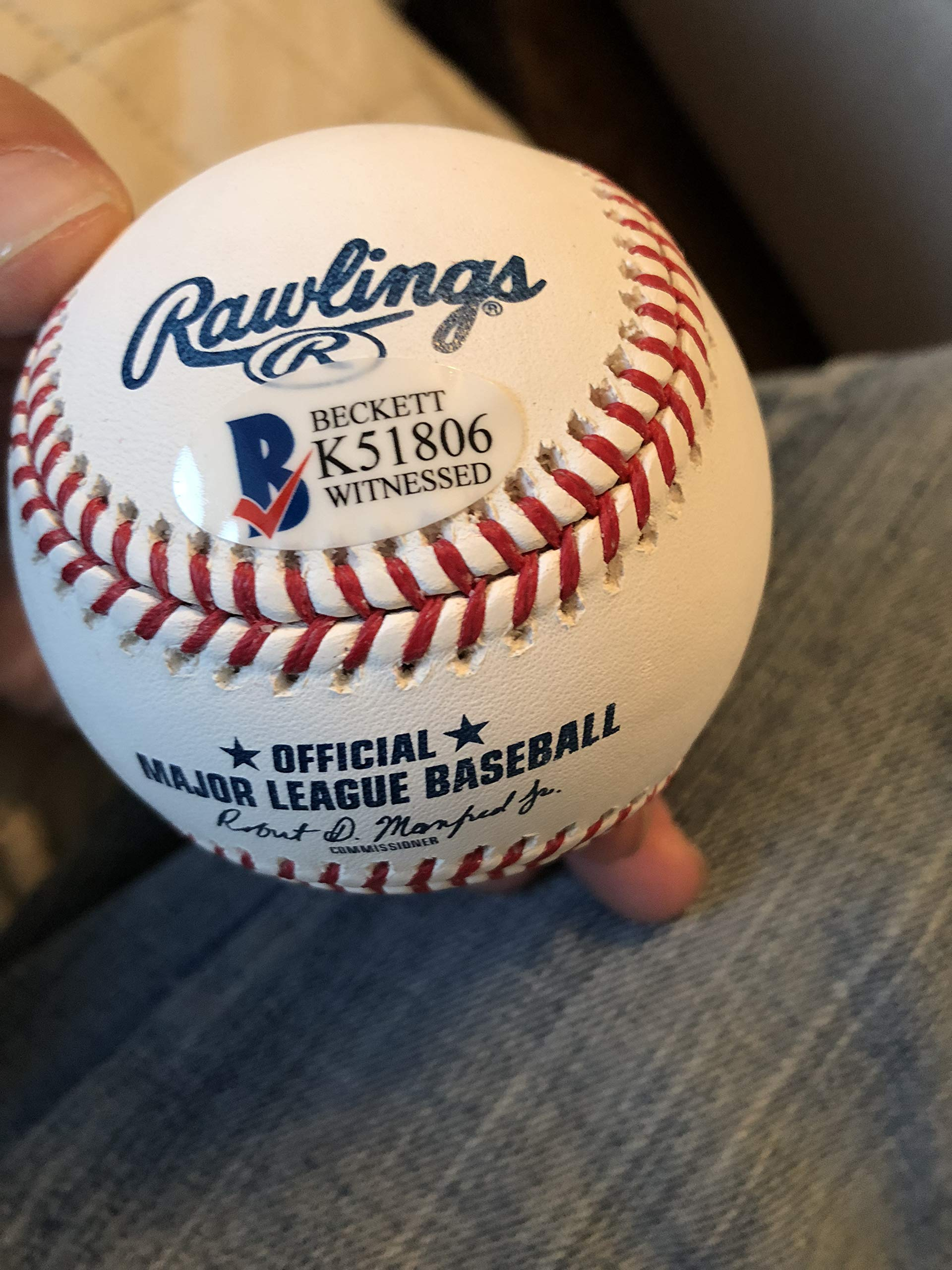 Autographed Pedro Martinez official baseball Beckett witnessed signed