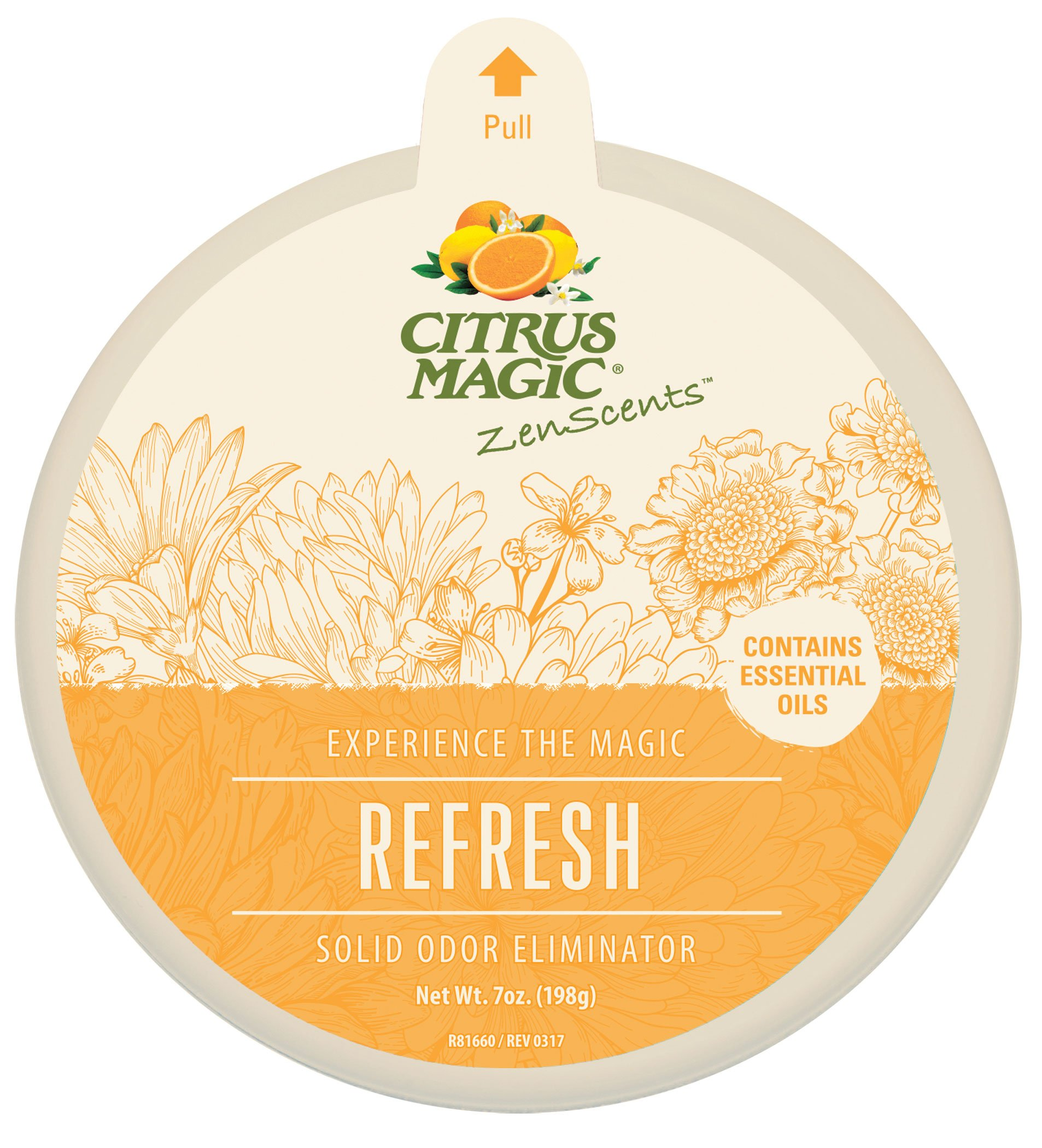 Citrus Magic ZenScents Aromatherapy Solid Air Freshener Refresh, Pack of 3, 7-Ounces Each