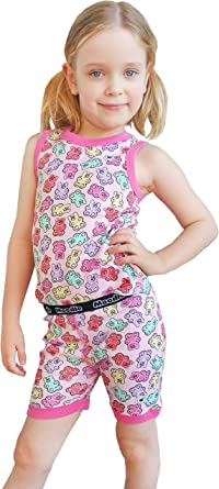 Kids Girls Cotton Nightdress Summer Sleeveless Pajamas Sleeping Wear Sets