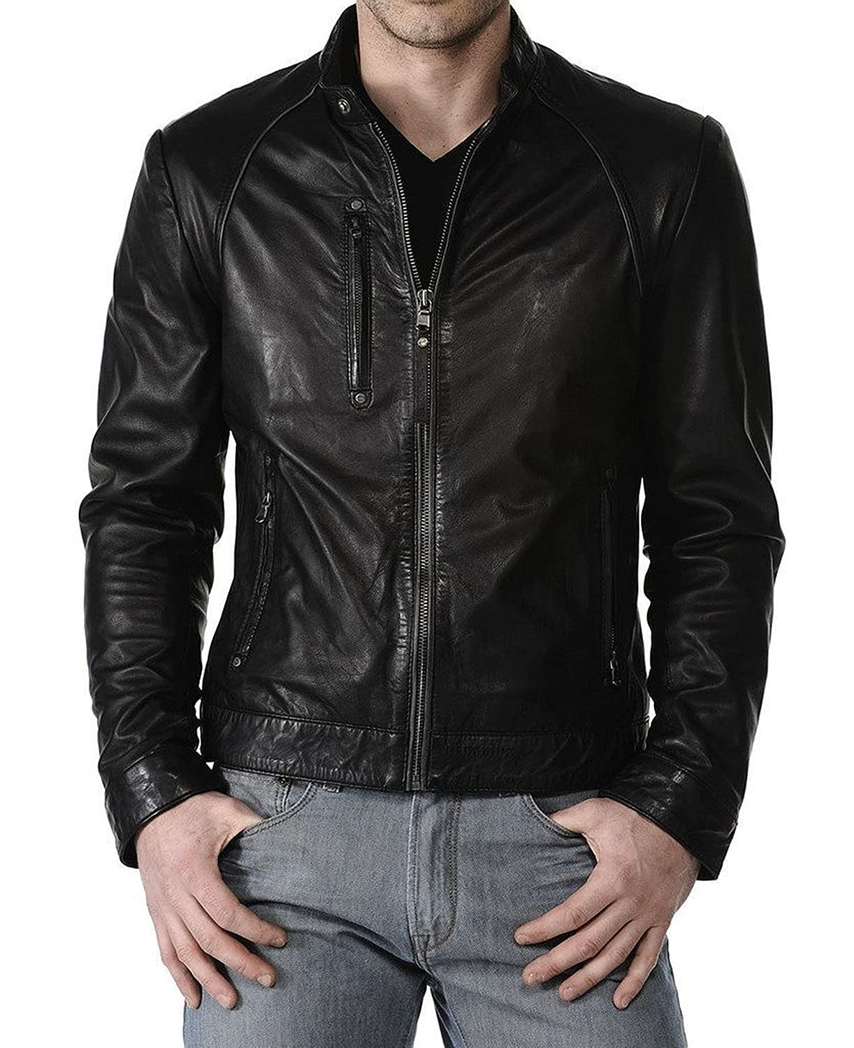 Laverapelle Men's Lambskin Real Leather Jacket Black - 1510295
