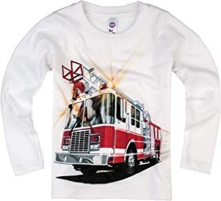 product image for Shirts That Go Little Boys' Long Sleeve Fire Truck T-Shirt