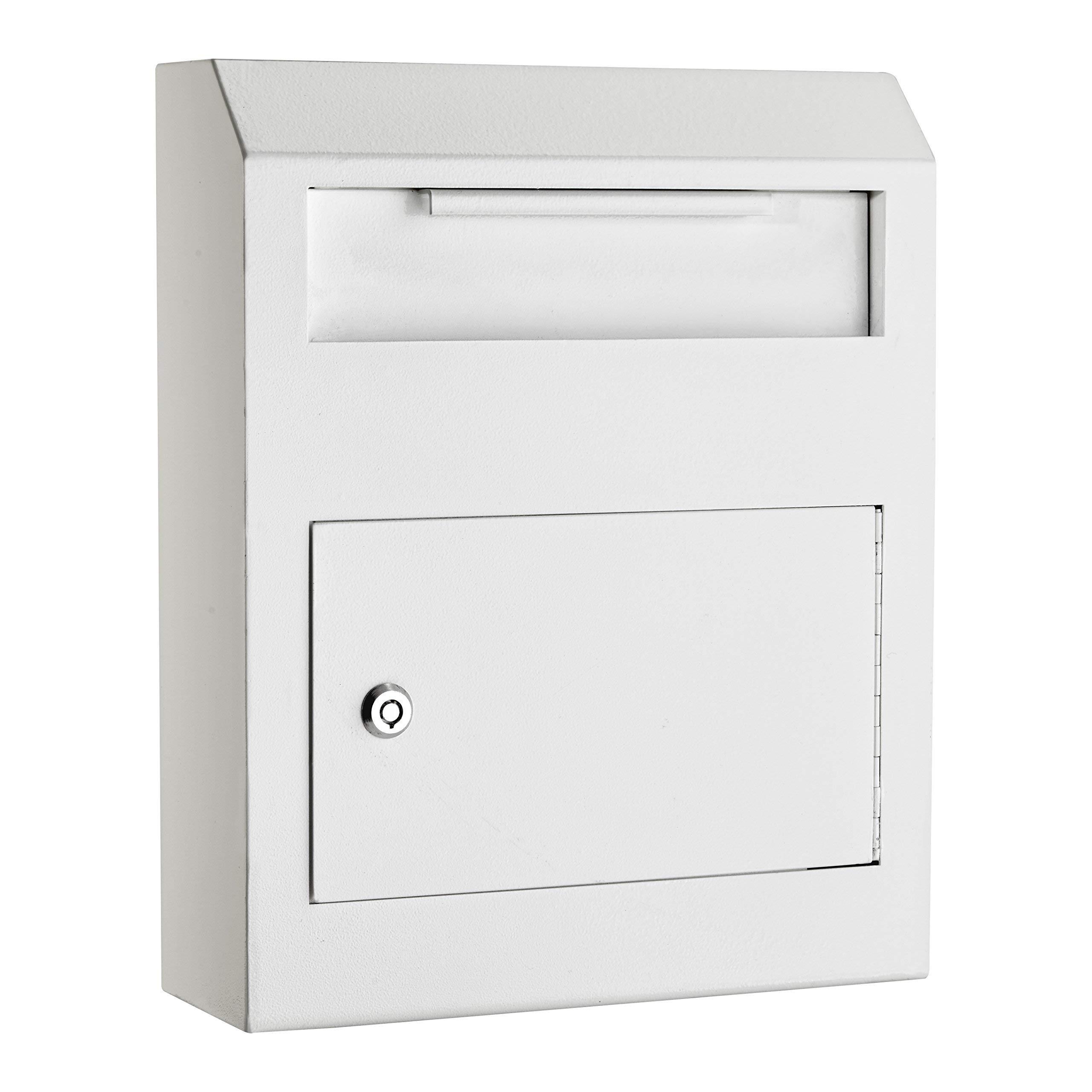 AdirOffice Heavy Duty Secured Safe Drop Box (White) by AdirOffice