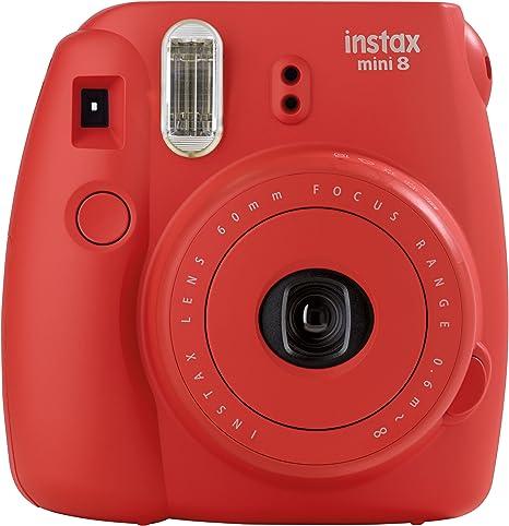 Fujifilm Instax Mini 8 - Cámara analógica instantánea (flash, velocidad de obturación fija de 1/60 s), color rojo: Fujifilm: Amazon.es: Electrónica