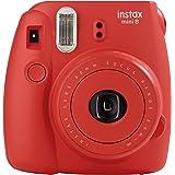 Fujifilm Instax Mini 8 Fotocamera Istantanea per Foto Formato 62 x 46 mm, Rosso