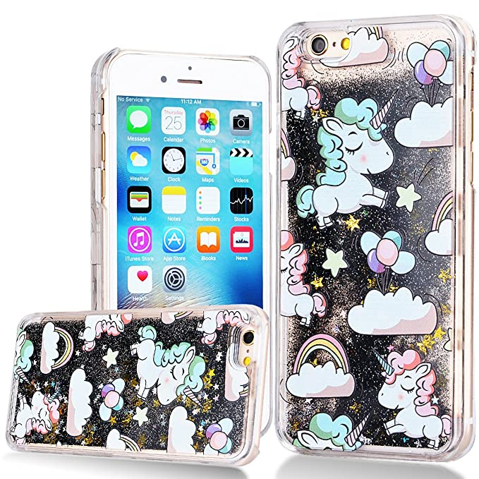 5 opinioni per WE LOVE CASE Cover per iPhone 6s Plus Custodia Glitter iPhone 6 Plus Cover